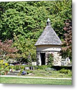 Fernwood Botanical Garden Stone Herb House Usa Metal Print