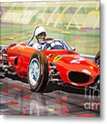 Ferrari 156 Dino British Gp1962 Phil Hill Metal Print