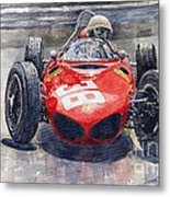 Ferrari 156 Sharknose Phil Hill Monaco 1961 Metal Print