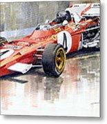 1971 Ferrari 312 B2 1971 Monaco Gp F1 Jacky Ickx Metal Print