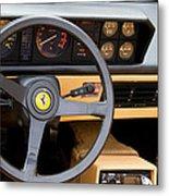 Ferrari 3.2 Mondial Cabriolet Interior Metal Print