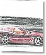 Ferrari 550 Metal Print