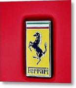 Ferrari Badge Metal Print