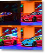 Ferrari Collage Metal Print