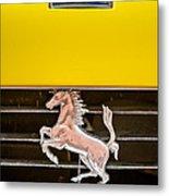 Ferrari Dino Grille Emblem -0750c Metal Print