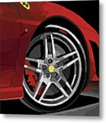 Ferrari Front End Metal Print