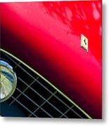 Ferrari Grille Emblem - Headlight Metal Print