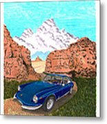 1969 Ferrari 365 G T C In The Mountains 1969 365 G T C Metal Print