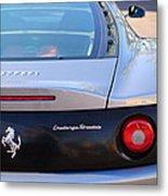 Ferrari Rear Emblem - Taillights -0089c Metal Print