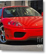 Ferrari Red Metal Print
