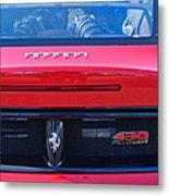 Ferrari Scuderia 430 Rear Emblems Metal Print