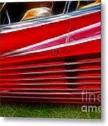 Ferrari Testarossa Red Metal Print