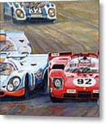 Ferrari Vs Porsche 1970 Watkins Glen 6 Hours Metal Print