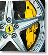 Ferrari Wheel 3 Metal Print