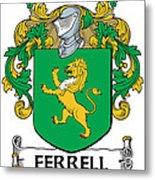 Ferrell Coat Of Arms Longford Ireland Metal Print