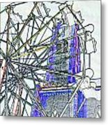 Ferris Wheel 2 Metal Print