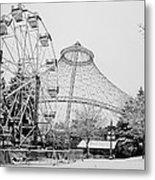 Ferris Wheel And R F P Pavilion - Spokane Washington Metal Print