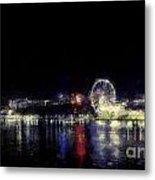 Ferris-wheel At The River Metal Print