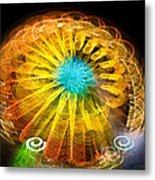Ferris Wheel Flower Metal Print
