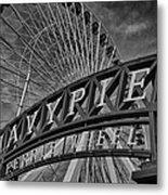 Ferris Wheel Navy Pier Metal Print
