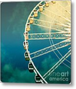 Ferris Wheel Old Photo Metal Print