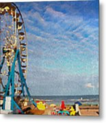 Ferris Wheel On A Gorgeous Day Metal Print