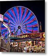 Ferris Wheel Rides And Games Metal Print