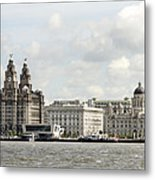 Ferry At Liverpool Metal Print