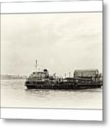 Ferry At The Terminal Metal Print