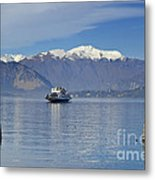 Ferry Boat On An Alpine Lake Metal Print