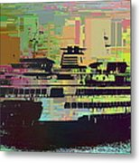 Ferry Cubed 2 Metal Print