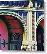 Ferry Terminal Arches At The Battery, New York Metal Print