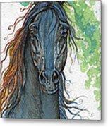 Ferryt Polish Black Arabian Horse Metal Print