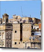 Fes Cityscape In Morocco Metal Print