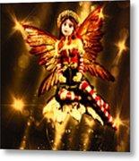 Festive Amber Fairy Metal Print