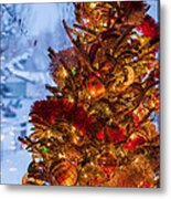 Festive Christmas Tree Metal Print