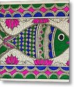 Festive Fish Metal Print