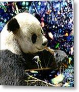 Festive Panda Metal Print