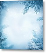 Festive Winter Background Metal Print