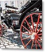 Fiaker Carriage In Vienna Metal Print