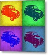 Fiat 500 Pop Art 1 Metal Print