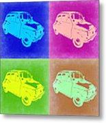 Fiat 500 Pop Art 2 Metal Print