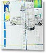 Fiat Cinquecento Metal Print