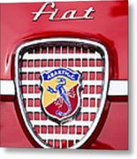Fiat Emblem 2 Metal Print by Jill Reger