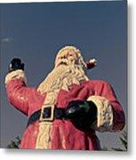 Fiberglass Santa Claus Metal Print