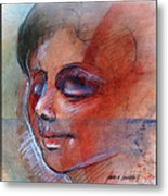 Fictitious Face 1981 Metal Print