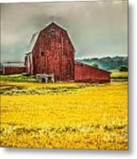 Field And Barn Metal Print