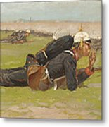 Field Drill For The Prussian Infantry  Metal Print