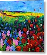 Field Flowers Metal Print