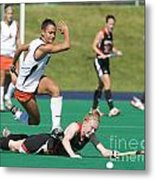 Field Hockey Hurdle Metal Print
